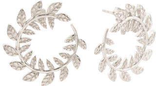 Made In Italy Sterling Silver Leaf Swirl Earrings