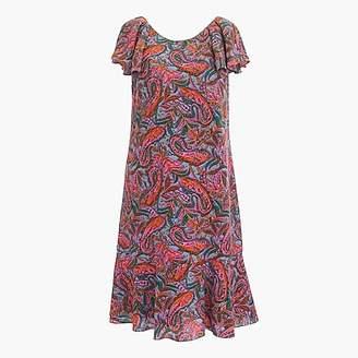 J.Crew Ruffled dress in vibrant paisley