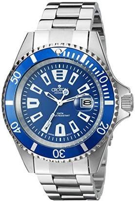Croton Men's CA301282BUBL Analog Display Quartz Silver Watch