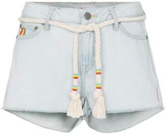 Mira Mikati embroidered mini denim shorts
