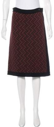 Salvatore Ferragamo Wool Knee-Length Skirt