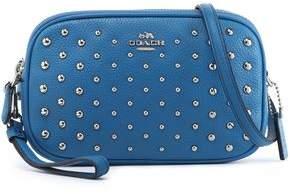 Coach Studded Textured-Leather Shoulder Bag