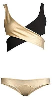 Lisa Marie Fernandez Women's Marie-Louise Two-Piece Crepe Bikini