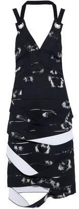 Proenza Schouler Embellished Cutout Crepe Dress