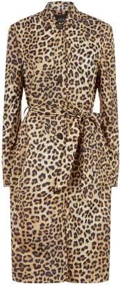 SET Leopard Trench Coat