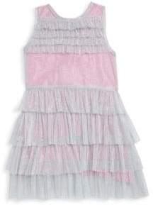 Little Girl's & Girl's Tiered Ruffle Dress