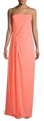 Halston Straight Across Floor-Length Dress