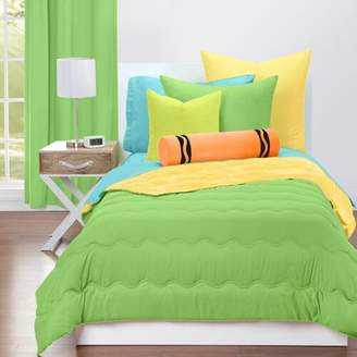 Crayola Jungle Green and Laser Lemon Reversible Comforter Set