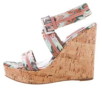 Missoni Embroidered Platform Wedges