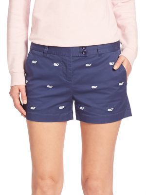 Vineyard Vines Whale Embroidered Shorts $98 thestylecure.com