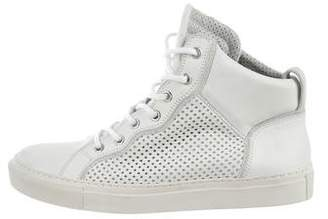 Balmain Round-Toe High-Top Sneakers