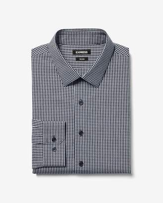 Express Slim Small Plaid Non-Iron Performance Shirt