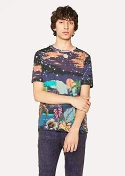 Paul Smith Men's Slim-Fit 'Midnight' Print Cotton T-Shirt