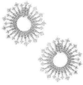 Adriana Orsini Greta Clear Front-To-Back Earrings