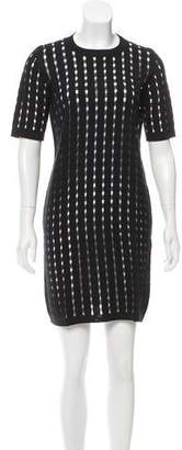 Calvin Klein Collection Open Knit Mini Dress