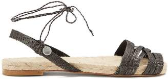 BALL PAGÈS Doble Cross hemp slingback espadrilles