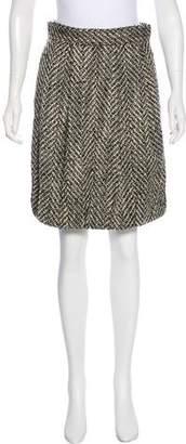 Lela Rose Knit Knee-Length Skirt