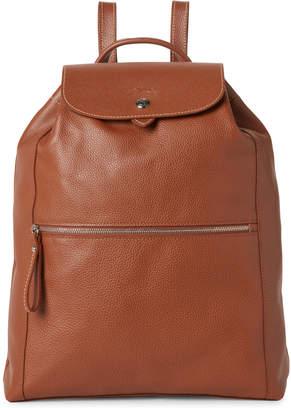 Longchamp Cognac Le Foulonne Leather Backpack