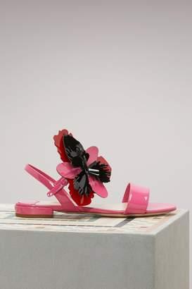Miu Miu Flower flat sandals