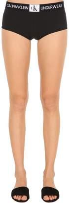 Calvin Klein Underwear Logo Cotton Jersey Boy Shorts