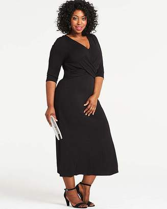 Fashion World Black Wrap Waist Dress