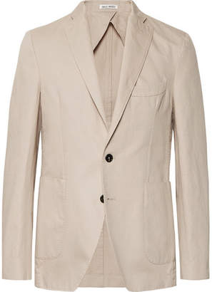 Privee Salle SALLE Sand Ross Slim-fit Unstructured Cotton And Linen-blend Twill Blazer - Sand