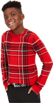 Charter Club Big Boys Plaid Family Sweater