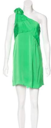 Alice + Olivia Silk One-Shoulder Dress
