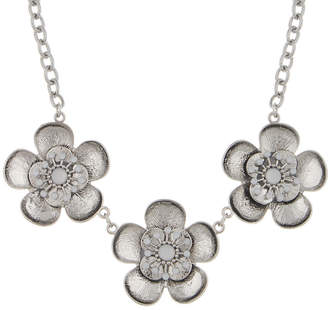 clear Decree Womens Round Statement Necklace