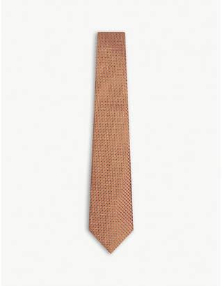 Canali Mini circle silk tie