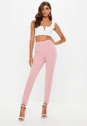Missguided Pink Skinny Fit Cigarette Pants