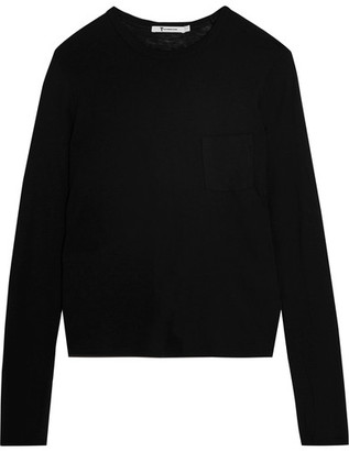 T by Alexander Wang - Jersey Top - Black $90 thestylecure.com