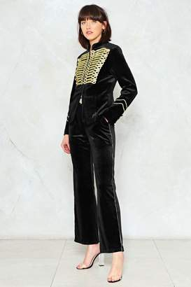 Nasty Gal Take Charge Military Velvet Pants