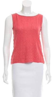 Valentino Sleeveless Knik Top