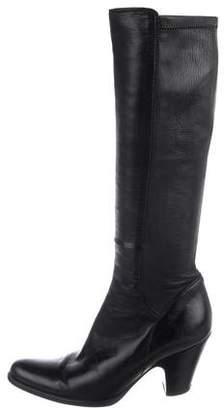 Duccio Del Duca Leather Knee-High Boots