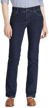 Lauren Ralph Lauren Straight Leg Jeans in Rinse