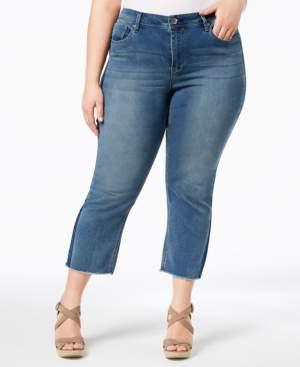 ccc97d65fc61e Seven7 Jeans Trendy Plus Size Kick-Flare Jeans