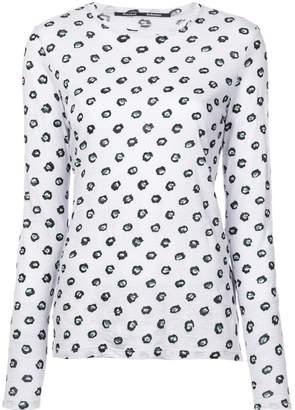 Proenza Schouler Floral Dot Long Sleeve T-Shirt