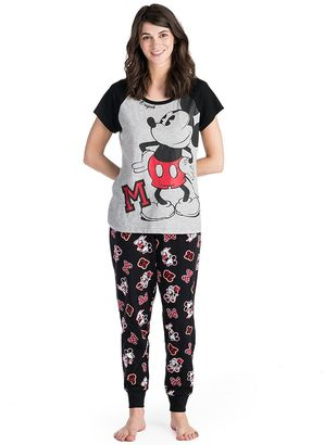 Disney's Mickey & Minnie Mouse Juniors' Pajamas: Tee & Jogger Pants PJ Set $46 thestylecure.com