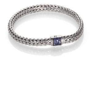 John Hardy Classic Chain Sapphire& Sterling Silver Small Bracelet
