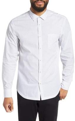 Good Man Brand Slim Fit Zig Zag Print Sport Shirt