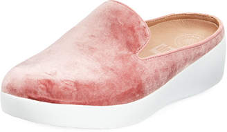 FitFlop SuperSkate Velvet Mule Sneakers