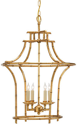 Chelsea House Bamboo 4-Light Chandelier - Antiqued Gold