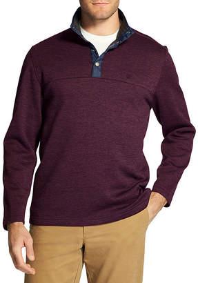 Izod Snap-Front Pullover Sweater Fleece
