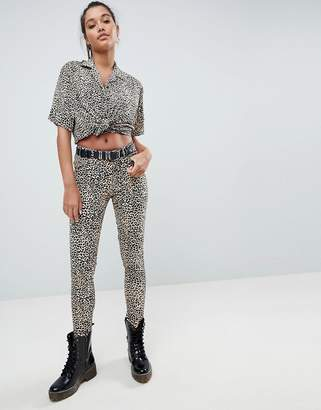 Motel Ultimate Jeans In Leopard