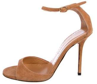 Alexa Wagner Suede Ankle-Strap Sandals
