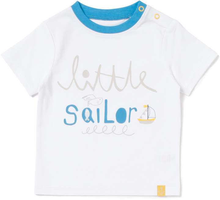 Tu Clothing White Printed Sailor T-shirt