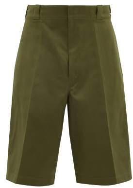 Prada Cotton Twill Chino Shorts - Mens - Green