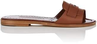 Manolo Blahnik Women's Freccia Leather Slide Sandals