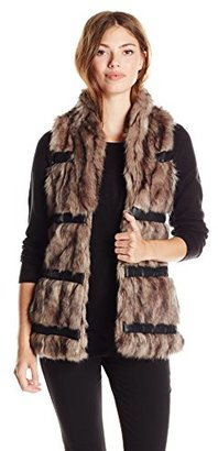 Buffalo David Bitton Women's Navid Fur Vest $148 thestylecure.com